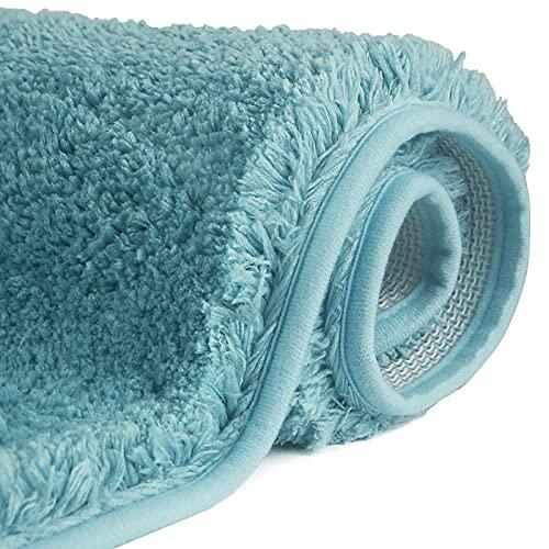 FCSDETAIL Tappeti da Bagno a Pelo Lungo Antiscivolo 60 x 90 cm, Tappetino Lavabile in Lavatrice con Microfibre Morbide Assorbenti per Vasca, Doccia e Bagno