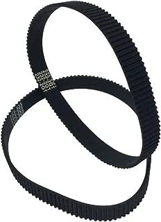 BEMONOC 2GT Timing Belt in Closed Loop L=264mm W=9mm 132 Teeth Rubber Drive Belt 264-2GT-9 Pack of 2pcs