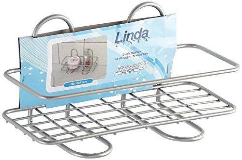 FERIDRAS Linda Étagère, 1 étagère, rectangulaire, Chrome, 11 x 26 x 11 cm