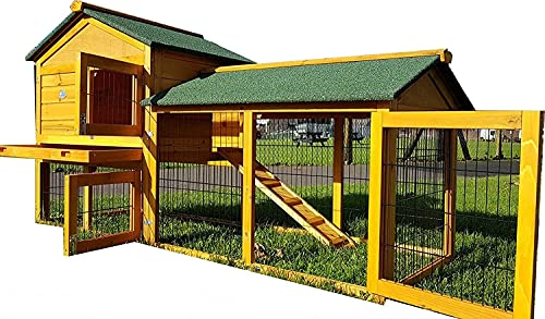Eggshell EXTRA LARGE SMOKEY XXL NATURAL COLOUR RABBIT HUTCH GUINEA PIG HUTCHES RUN RUNS LARGE 2 TIER WITH NIGHT SHUTTER