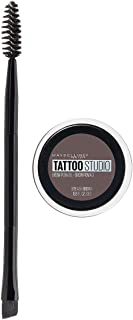 Maybelline New York Tattoostudio Brow Pomade Long Lasting, Buildable, Eyebrow Makeup, Ash Brown, 0.106 Ounce