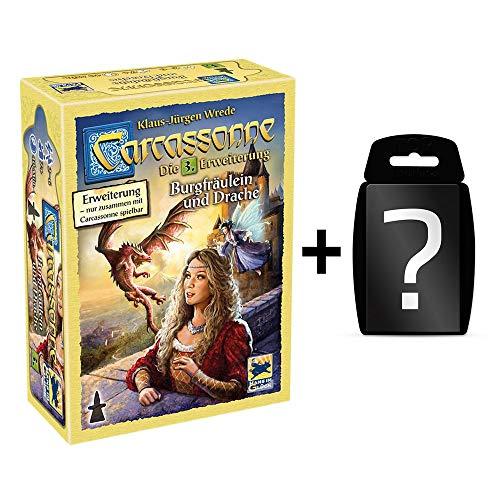 Carcassonne - Burgfräulein und Drache - Brettspiel | DEUTSCH | Set inkl. Kartenspiel