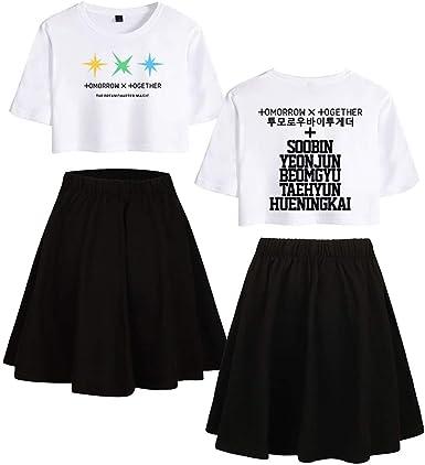Enjoyyourlife TXT Ropa Camiseta Set Expuestos Falda Cortos ...