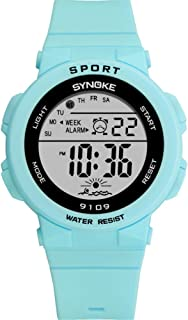 Fashion Girl Digital Watch, Timer Alarm Clock, Stopwatch, Light, Movement Watches Convenience (Color : Green)