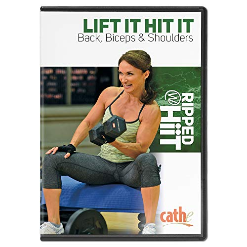 Cathe Friedrich Ripped with HiiT - Lift It Hit It Back, Biceps & Shoulders Upper Body Workout DVD