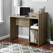 Mainstays Student Desk Home Office Bedroom Furniture Indoor Desk, Rustic Oak