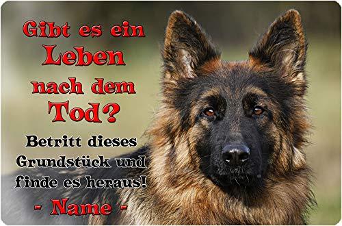 Nanyuk Deutscher SCHÄFERHUND - Metall Warnschild Schild Hundeschild Sign - DSH 39 T19 P