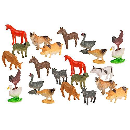 Big Mo s Toys Farm Animals - Mini Farm Animal Figurines Assortment Party Favors Pack - 75 Pieces