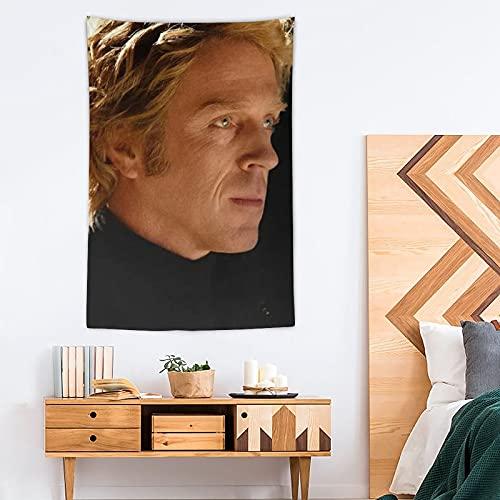 ASDFG Tapiz Damian Lewis Pop Art - Tapiz de poliéster - Decoración del hogar - 100 x 150 cm