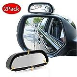 EEEKit Espejo del Punto Ciego de Coche, Universal Espejo retrovisor del Coche, 360 Grados Espejos Traseros Laterales de ángulo Ancho Ajustables, Paquete de 2