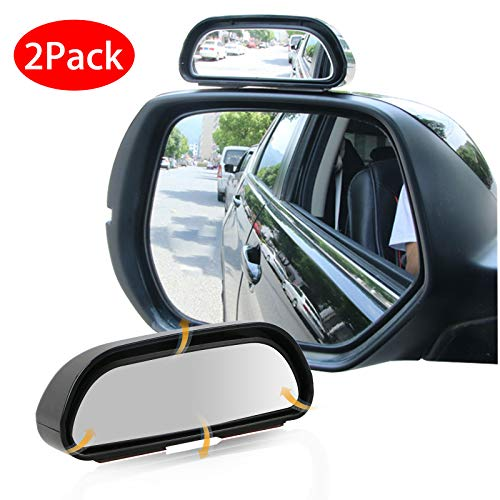 Preisvergleich Produktbild EEEKit Toter Winkel Spiegel,  2er-Pack Rechts + Links 360 Grad einstellbar Weitwinkel Seitenspiegel Universal Blind Spot Snap Way Rückspiegel