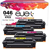 ejet mf733cdw toner Compatible 046h Toner Cartridge Replacement for Canon 046 CRG-046 046h Toner for Canon ImageCLASS MF733Cdw MF731Cdw MF735Cdw LBP654Cdw Printer, 4 Pack(Black, Cyan, Magenta, Yellow)