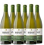 Raimat   Vino Blanco Raimat Castell Chardonnay Ecologico 2019   MEDALLA DE ORO MUNDUS VINI - 2018   D.O. Costers del Segre (6 Botellas)