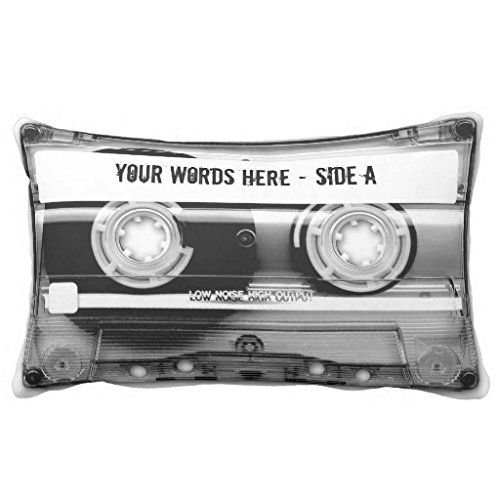 Cheyan Cassette Tape Mixtape personalized Lumbar Pillow 13x21 Inches