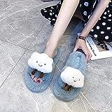 Zapatillas De Casa para Mujer Primavera,Hombres Y Mujeres Dibujos Animados Nubes Lindas Que Llevan Zapatos De Flip CóModa para La Piel CóModa-EU 37 (235mm / 9.25')_Azul