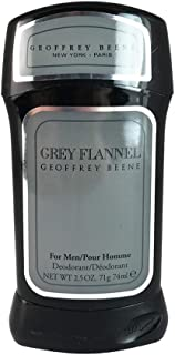 Geoffrey Beene Grey Flannel Deodorant Stick for Men, 2.5 Ounce