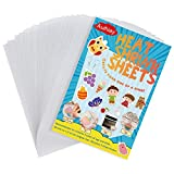 Auihiay 20 Sheets Sanded Shrink Plastic Sheets, Shrink Films Papers for Kids Creative Craft, 5.7 x 7.9inch / 14.5 x 20cm