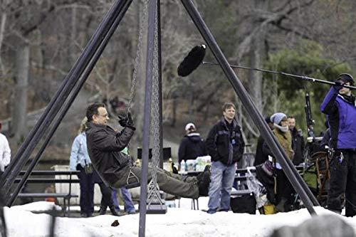 Tom Hanks auf dem Set Extrem Laut und Unglaublich nahe im Central Park Fotodruck (10x8)