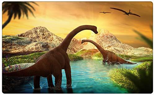 Dinosaurier Langhals Wasser Wandtattoo Wandsticker Wandaufkleber R1753 Größe 70 cm x 110 cm