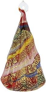 Murano - Figura de árbol de Navidad (cristal), color rojo