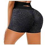 Women Biker Shorts High Waist Hip Stretch Running Fitness Yoga Pants Wrinkled Yoga 2021