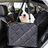 Dog Seat Covers, Nonslip Dog Back Seat Cover with Mesh and Convertible Side Flaps, Dog Car Seat Covers Easy to Install and Clean Fits for Cars, 58''L54''W