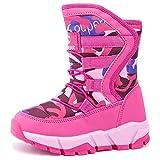 UBFEN Kids Snow Boots Girls Winter Warm Waterproof Outdoor Slip Resistant Cold Weather Shoes Toddler Little Kid Big Kid A Pink 1.5 Little Kid waterproof snow boots Oct, 2020
