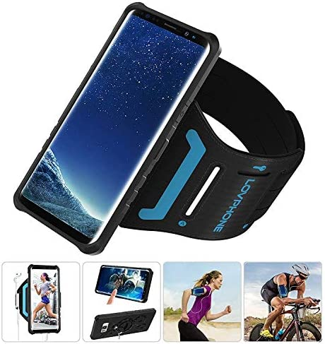 Samsung Galaxy S8 Plus S9 Plus Armband Armour Case Set with QuickMount LOVPHONE Sport Running product image