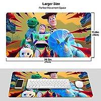 トイ・ストーリー4 マウスパッド 光学マウス対応 パソコン 周辺機器 超大型 防水 洗える 滑り止め 高級感 耐久性が良い 40*75cm