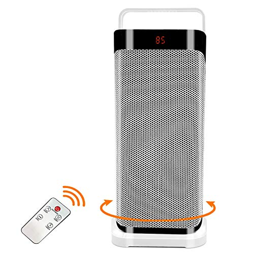 Patio Tower Heaters Outdoor - Oscillating Portable Large Electric Heater, Remote Ceramic Fan Heater...