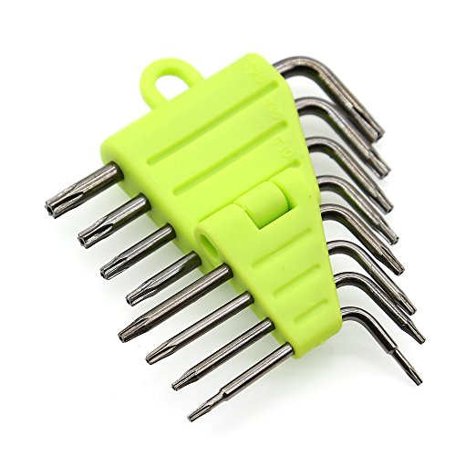 Kingsdun Small Torx Screwdriver Set with T5 T6 T7 T8 T9 T10 T15 T20 Security Driver Bits for Macbook/Xbox one/Xbox/Controller/PS3/PS4/HDD/Computer Repair