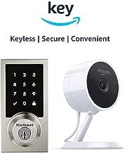 Kwikset 916 SmartCode ZigBee Touchscreen Smart Lock + Amazon Cloud Cam   Key Smart Lock Kit (Contemporary Style in Satin Nickel)