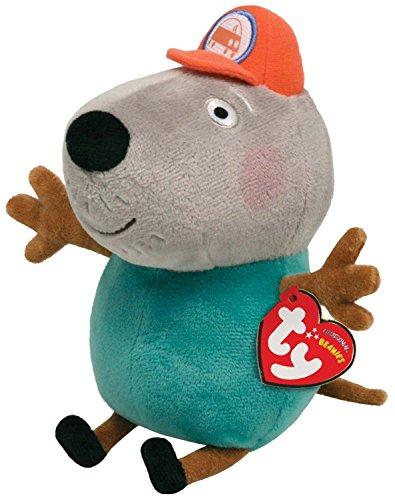 TY 46176 - Peppa Baby - Beanie Babies Opa Kläff Hund - Plüsch, 15 cm