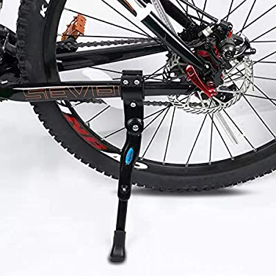 "Bike Kickstand Adults- Adjustable Rear Side Bicycle Stand Kickstand Fit for 22"" 24"" 26"" 28"" Bike Kick Stand for Mountain Bike Road Bicycles Kickstand"