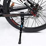 Bike Kickstand Adults- Adjustable Rear Side Bicycle Stand Kickstand Fit for 22' 24' 26' 28' Bike Kick Stand for Mountain Bike Road Bicycles Kickstand (Black)
