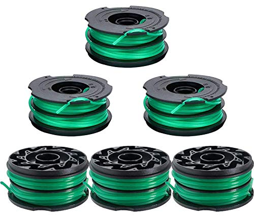 BOOTOP DF-080 Trimmer Replacement Spool Compatible with Black and Decker GH2000 GH1100 GH1000 Weed Eater DF-080-BKP DF080 Spool Refills 30ft 0.080' String Trimmer Line (6 Pack)