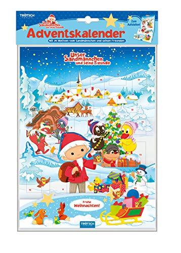 Trötsch Unser Sandmännchen Adventskalender zum Aufstellen: Weihnachtskalender Aufstellkalender Advent
