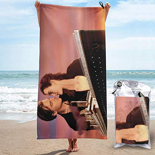 Toallas de baño Titanic Quick Dry Towel Lightweight, Camping Beach Travels for Soft Bath Towels for Pool Swimming Beach Chair