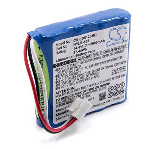 vhbw Batería recargable compatible con Edan SE-1, SE-1200, SE-3, SE-300, SE-300A, SE-300B, SE-300G tecnología médica (2600mAh, 14,4V, Li-Ion)