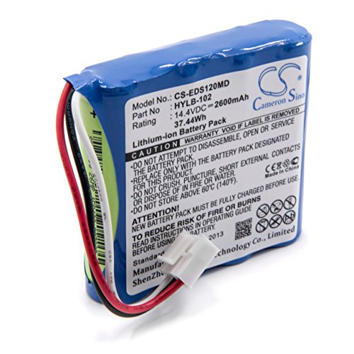 vhbw Batería recargable reemplaza Edan HYLB-102 para tecnología médica (2600mAh, 14,4V, Li-Ion)