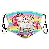 Nonbrand Unisex-Gesichtsmaske, vollständig abdeckend, wiederverwendbar, Baumwolle, Mundschutz für Babys, Xuxu Cartoon, Fee, magisches Pony