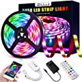 LED Strip Lights, Elfeland 16.4FT/5M 5050 RGB Light Strips Work with APP Color Changing Non-Waterproof Rope Lights Sync with Music Flexible Tape Light Kit for TV,Room,Kitchen Decoration