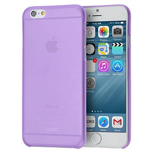 doupi UltraSlim Funda para iPhone 6 Plus / 6S Plus (5,5 Pulgadas), Finamente Estera Ligero Estuche Protección, Morado