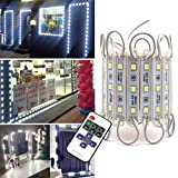 Storefront Lights Pomelotree 3 Led 40PCS 5050 LED Module Lights Waterproof LED Window Lights Super Bright Decorative Lights with Tape Adhesive for Store Advertising Signs 20FT (2 Pack) (White)