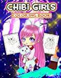 Chibi Girls Coloring Book: Japanese Manga Drawings And Cute Anime Characters Coloring Page For Kids And Adults