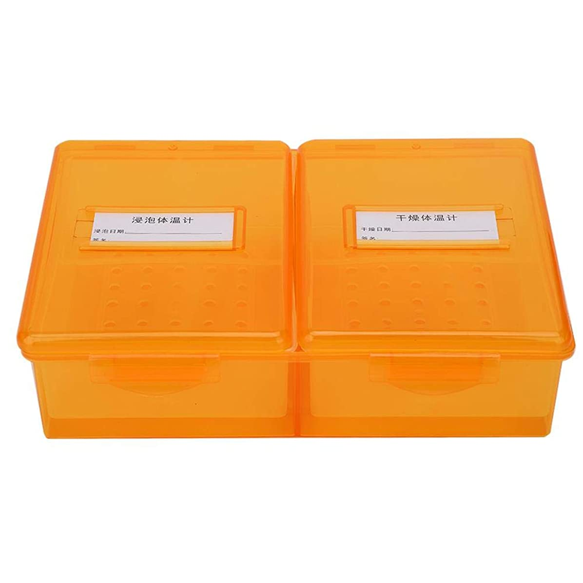 人道的ボトル貧しい滅菌ケース、多機能ピンセットネイルツール滅菌ボックス(オレンジ)