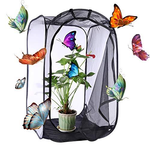 YVSoo Schmetterlinge Züchten Schmetterlingsgarten für Fang, Zucht Oder Beobachtete Schmetterlinge 60 x 60 x 90cm