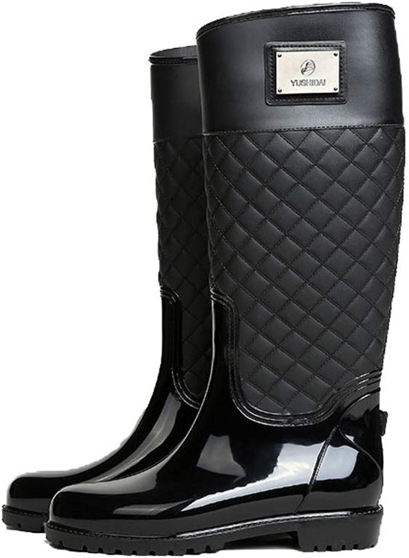 CHENSF Women's Long Rain Boots Mid Calf Garden shoes Ultra Lightweight Snow Boots