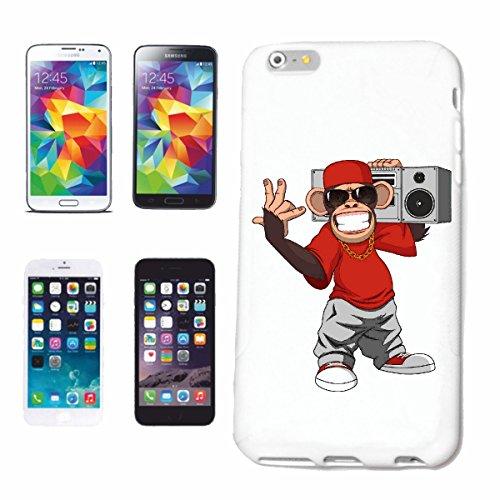 Helene telefoonhoes compatibel met Samsung Galaxy S8+ Plus AFFE MET Beatbox gouden ketting zonnebril EN basecap Monkey Schimpanse AFFE Gorilla ZILVEREN Heren