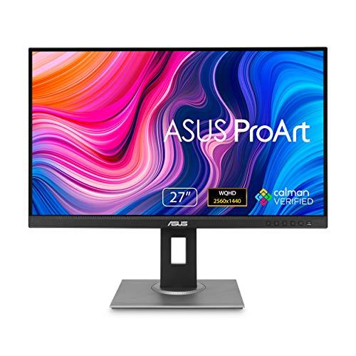 "ASUS ProArt Display PA278QV 27"" WQHD (2560 x 1440) Monitor, 100% sRGB/Rec. 709 ΔE  2, IPS, DisplayPort HDMI DVI-D Mini DP, Calman Verified, Eye Care, Anti-Glare, Tilt Pivot Swivel Height Adjustable"